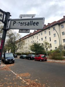Street named after colonizer Carl Peters in the African Quarter