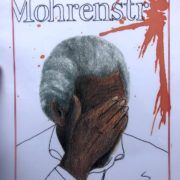 """Painting by German-African activist that expresses the pain of the word """"Mohrenstrabe"""" a racist term. (Moore)"""