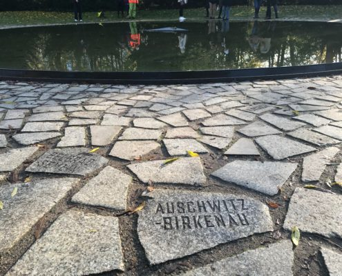 Memorial to The Sinti and Roma of Europe Murdered under National Socialism; this tile commemorates those Sinti and Roma murdered at Lety u Pisku, specifically