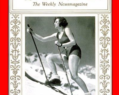 Leni Riefenstahl on the cover of Time Magazine, 1936