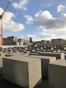 The Memorial to the Murdered Jews of Europe sits in the center of Berlin