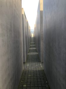Walking through the memorial, I was overwhelmed by the sense of being surrounded by such large concrete stones, unable to see anything else around