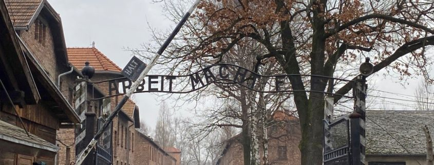 Gate at the entrance of Auschwitz I