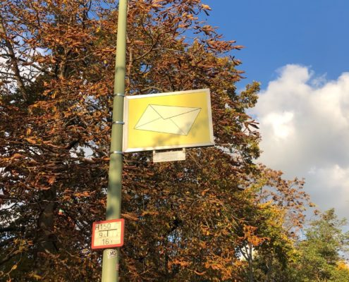 The text from the street sign in Berlin