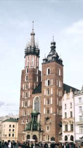 Saint Mary's Basilica in Kraków, Poland; only a little over an hour's drive away from Oswiecim