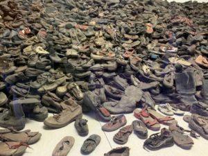 Shoes taken from prisoners at Auschwitz-Birkenau