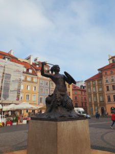 The mermaid represented on Warsaw's coat of arms. A symbol of the city