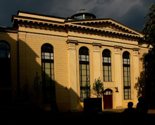 The renovated White Stork Synagogue in Wroclaw