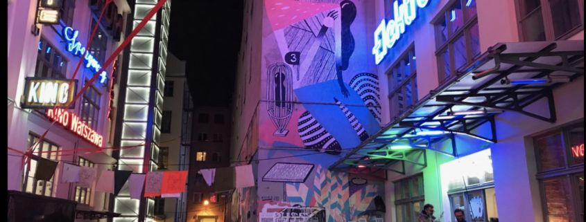 The area the club is in is filled with murals and other places where live performances take place