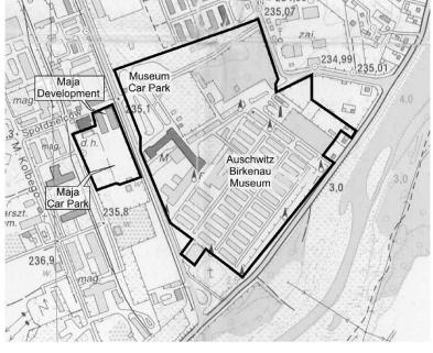 A map of the Auschwitz-Birkenau complex