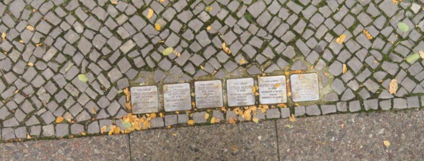 """Stumbling Stones"" in Schöneberg. Courtesy of Cynthia Wang"
