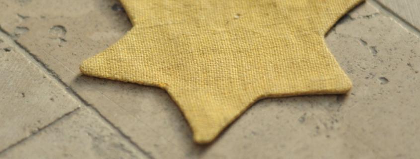 A Star of David Jews were forced to wear as identifiers